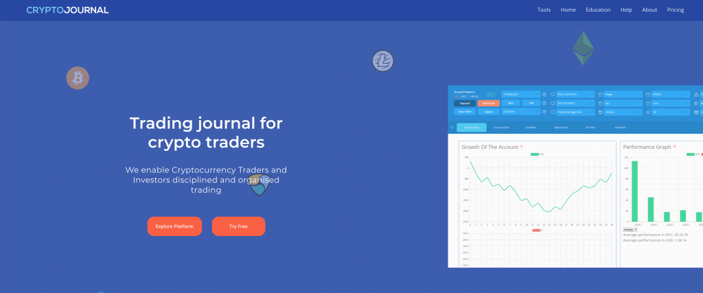 cryptotrading jounrnal online features